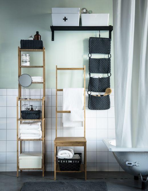 baño estanteria