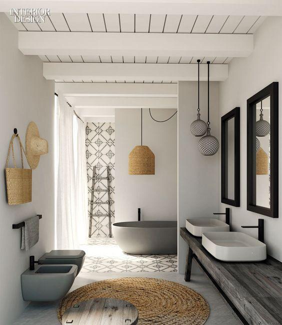 Consigue inspiración con estos originales diseños de baños
