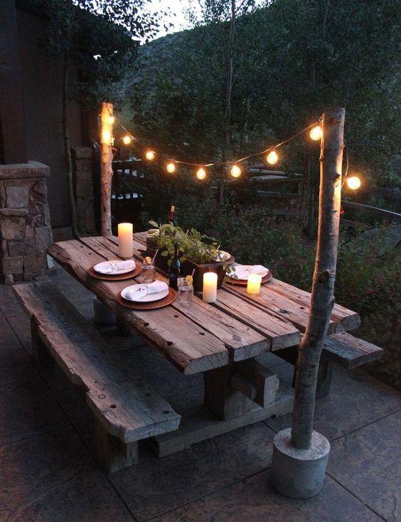 iluminación jardín