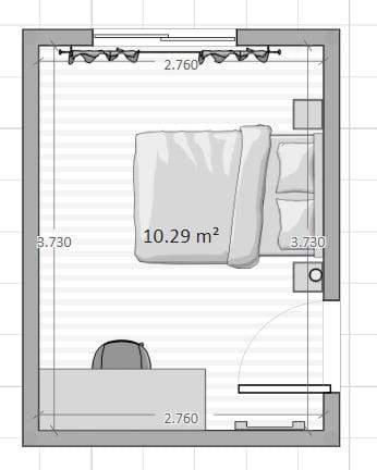 distribución habitación