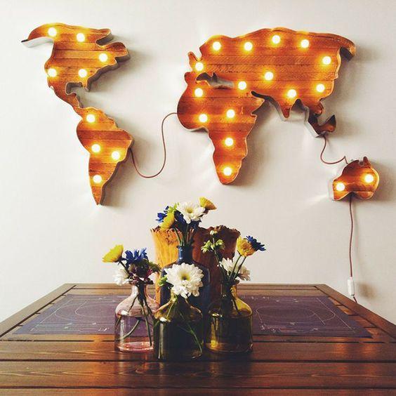 objetos luminosos para decorar
